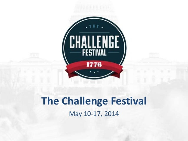 Welcome to the Challenge Festival