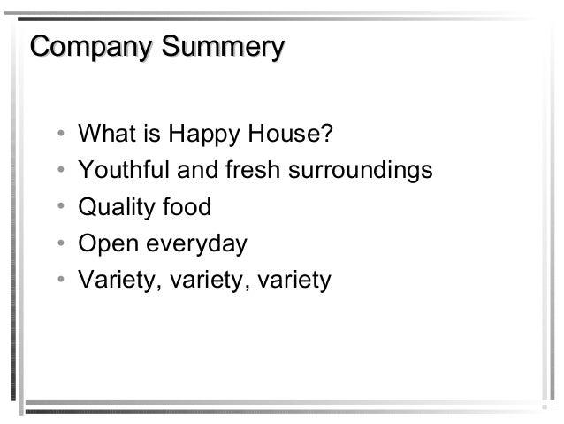 Food court business plan