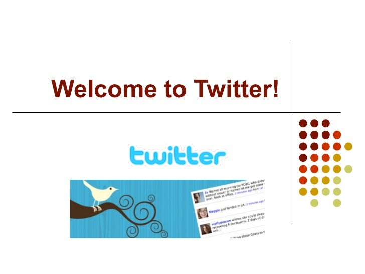 Welcome to Twitter!