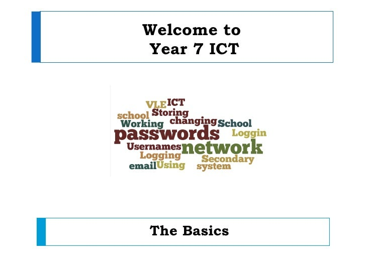 Welcome toYear 7 ICTThe Basics