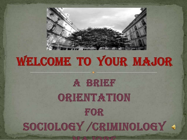 Welcome to Your Major: Sociology and Criminology at Old Westbury