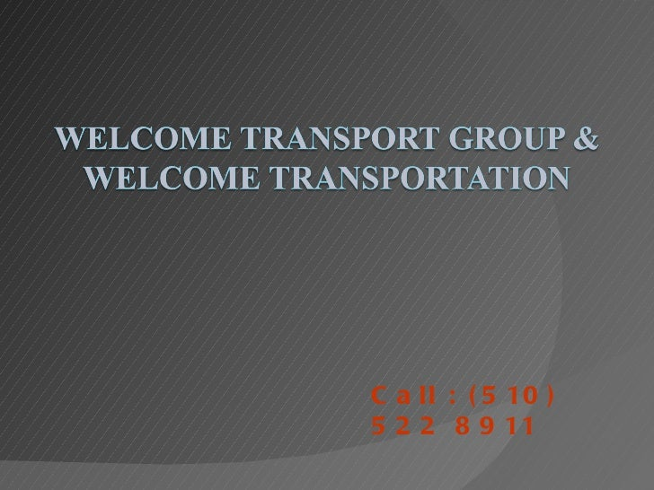Welcome transport2