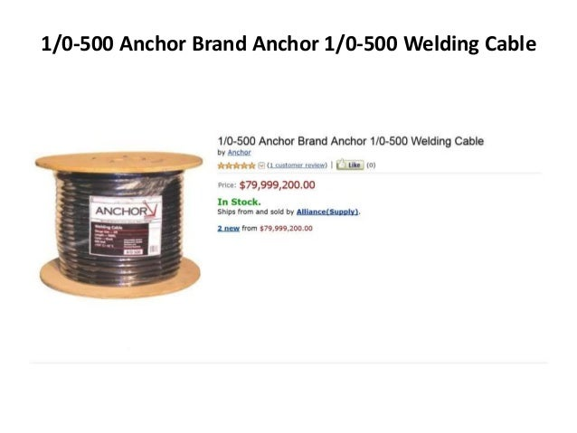 1/0-500 Anchor Brand Anchor 1/0-500 Welding Cable