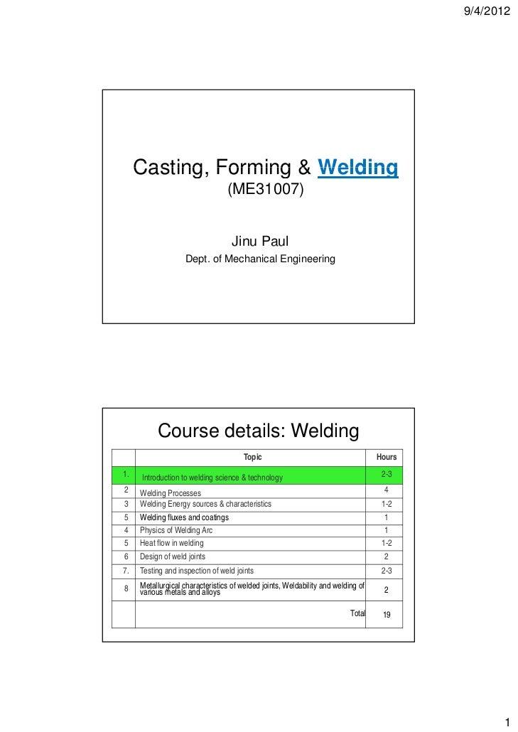 Welding lectures 1 4