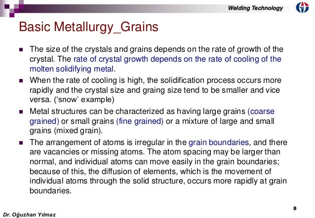 Welding Growth Rate The Rate of Crystal Growth