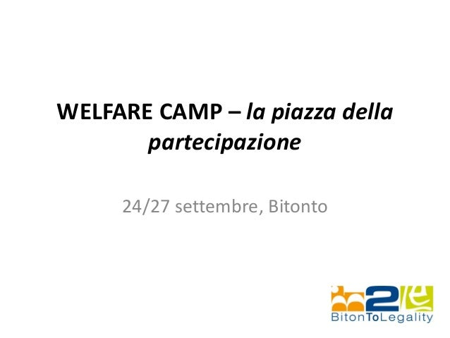 Welfare camp presentazione24set