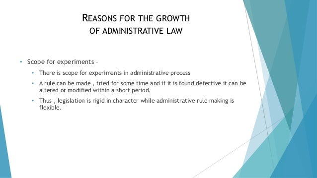 Growth of Administrative Law in India