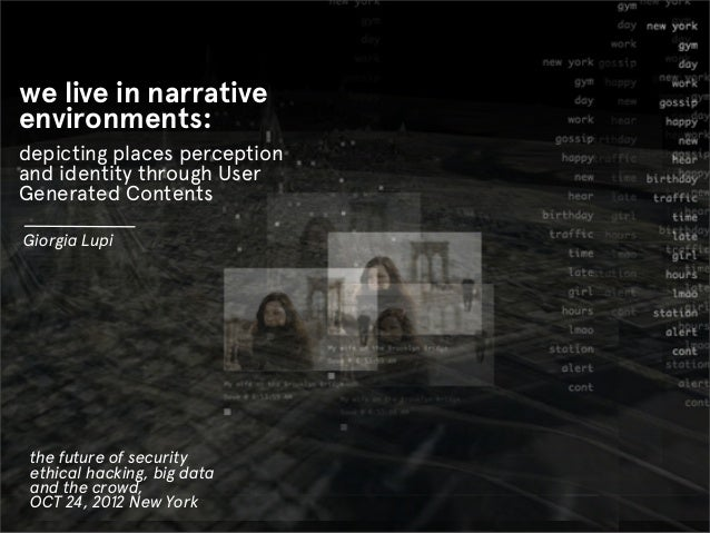 we live in narrativeenvironments:depicting places perceptionand identity through UserGenerated ContentsGiorgia Lupi the fu...