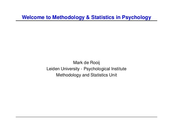 Master Methodology & Statistics Psychology