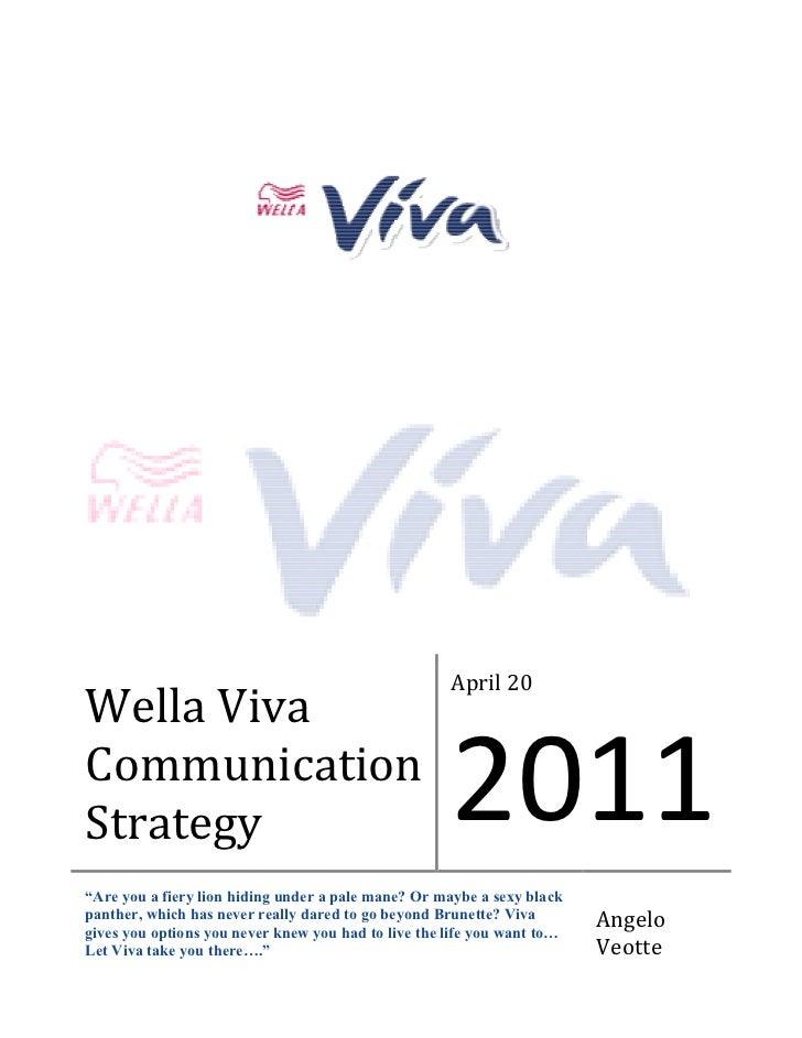 Wella Viva   Communication Strategy Document