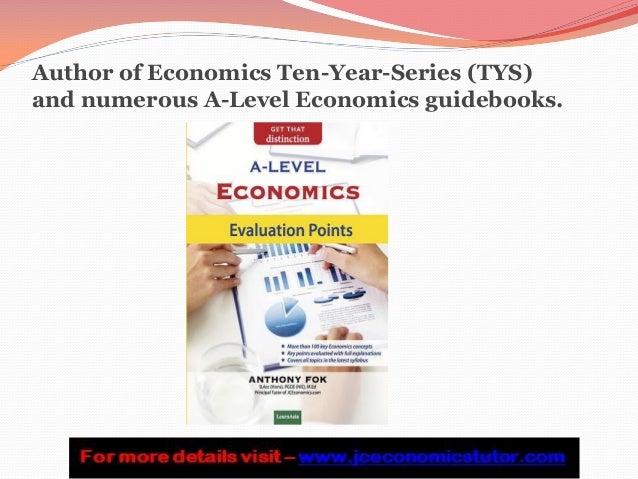 A level Economics essay help needed?