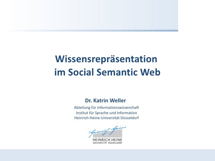 Wissensrepräsentation im Social Semantic Web