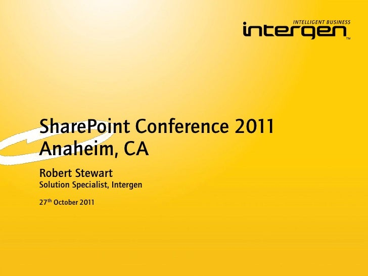 Highlights from the SharePoint Conference 2011