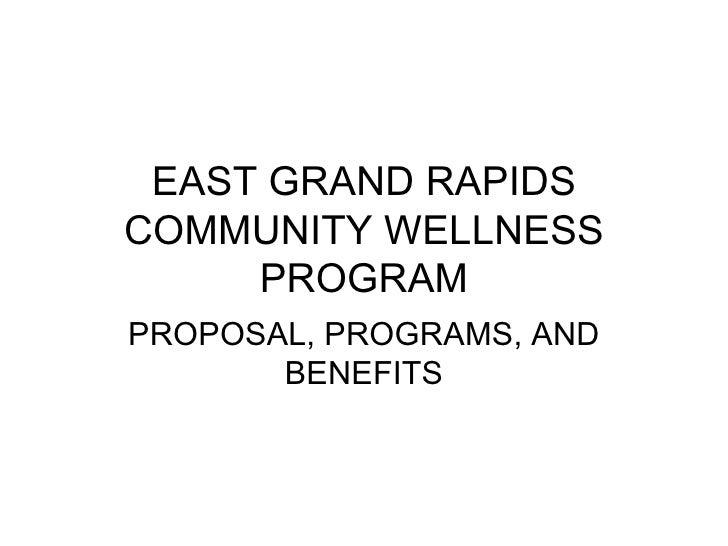 Proposal for Wellness Program