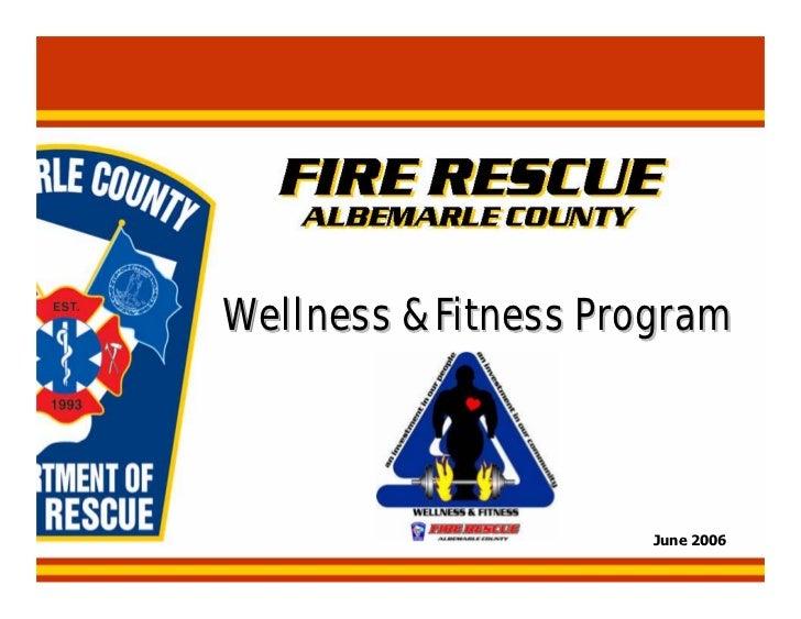Wellness fitness program