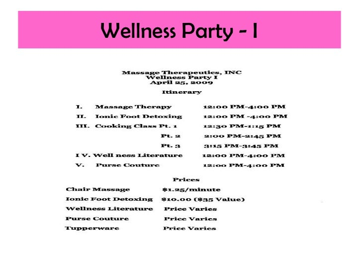 Wellness Party Massage Therapeutics Inc