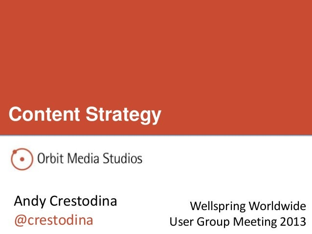 Wellspring Worldwide Content Strategy