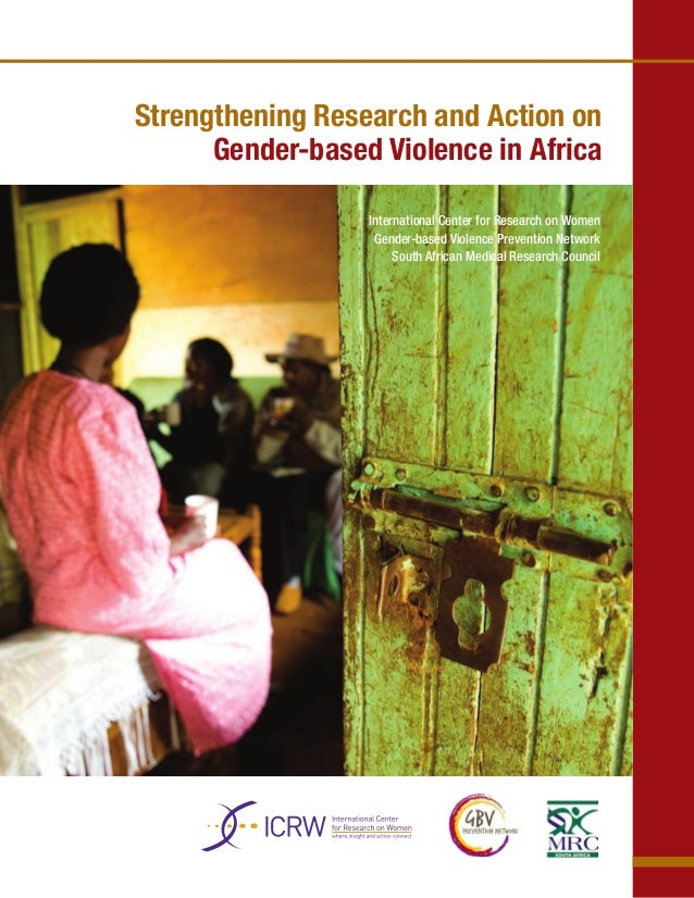 Strengthening Research and Action on      Gender-based Violence in Africa                  International Center for Resear...