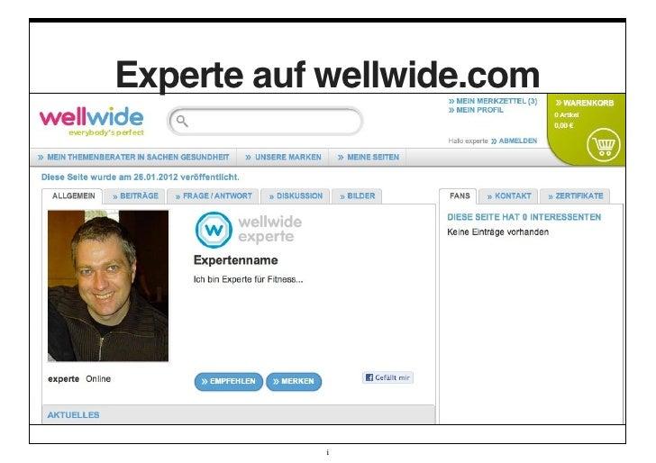 Experte auf wellwide.com           i