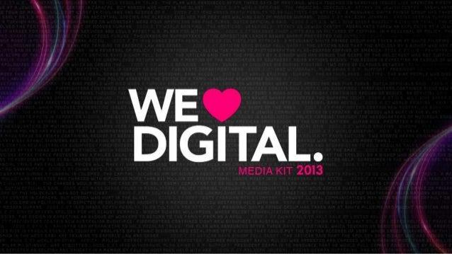 WE LOVE DIGITAL 2013
