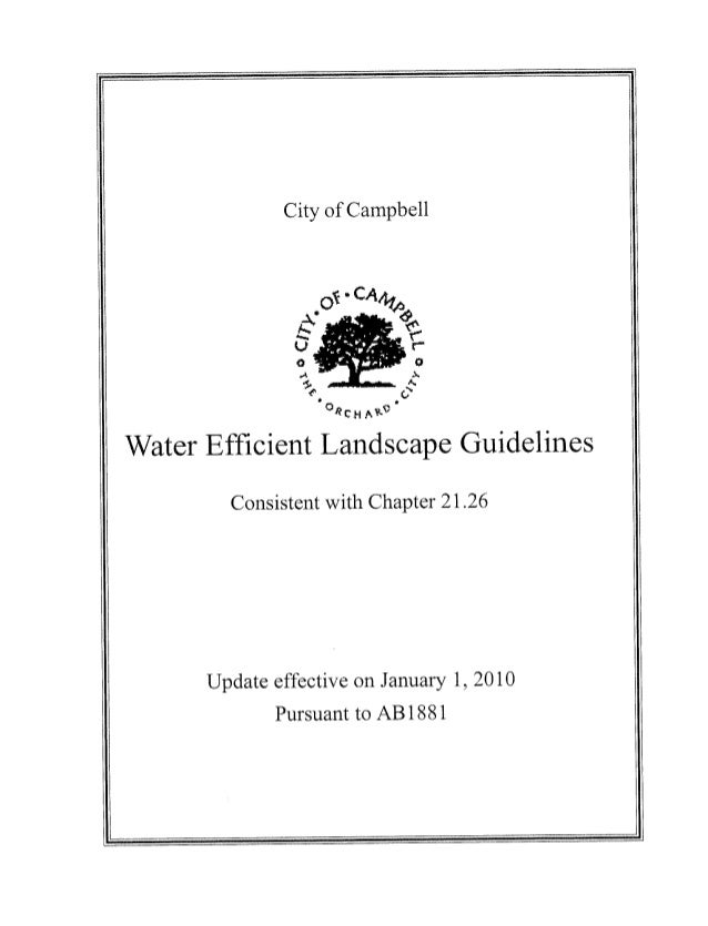 Water Efficient Landscape Guidelines - Campbell, California