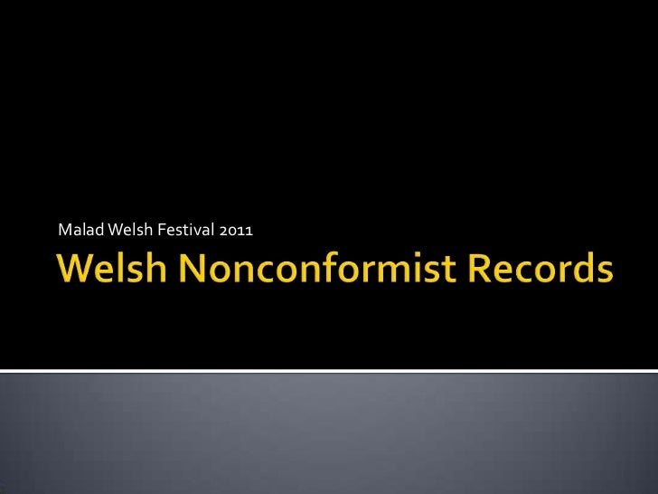 Welsh nonconformist records