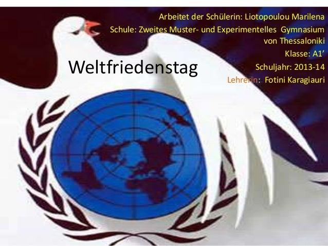 Weltfriedenstag
