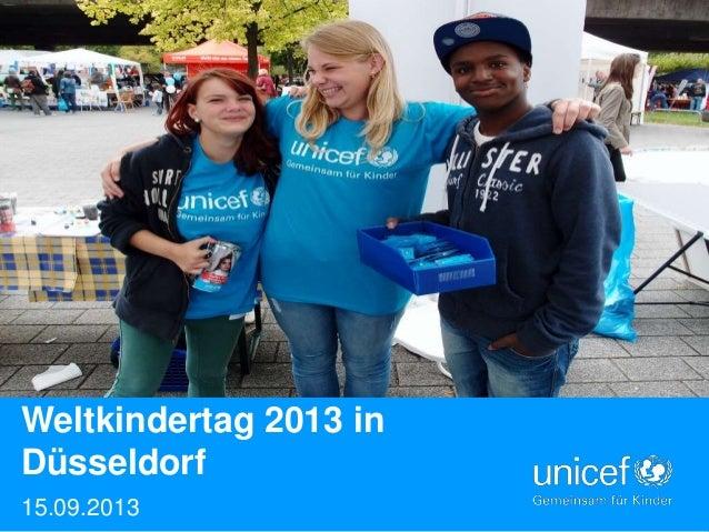 Weltkindertag 2013 in Düsseldorf 15.09.2013  UNICEF