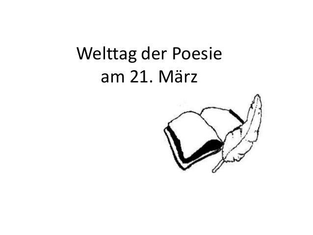 Welttag der Poesie am 21. März