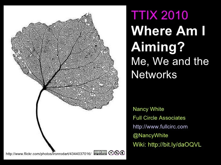 Where Am I Aiming? We, Me and the Network - TTIX 2010