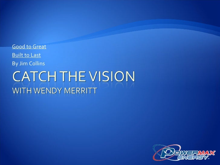 Catch the Vision - Advanced Training of the Masterminds Talk