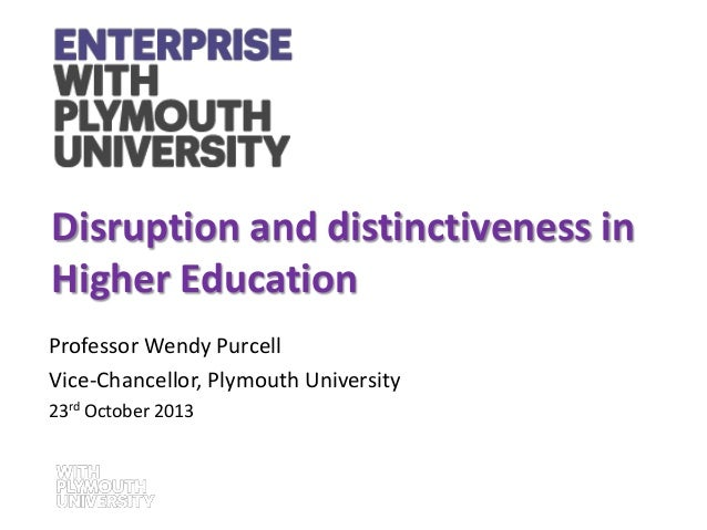 Annual Lecture and Awards Ceremony 2013: Wendy Purcell - Disruption and Distinctiveness in Higher Education