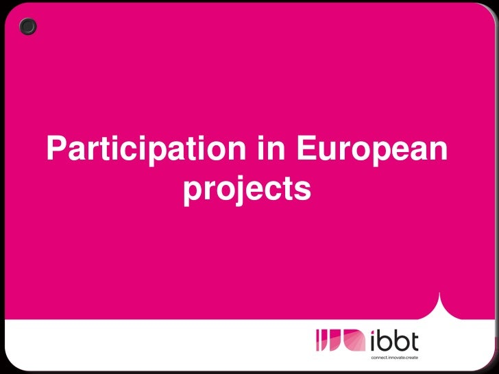 Break out: Participation in European projects - Wendy Ruys