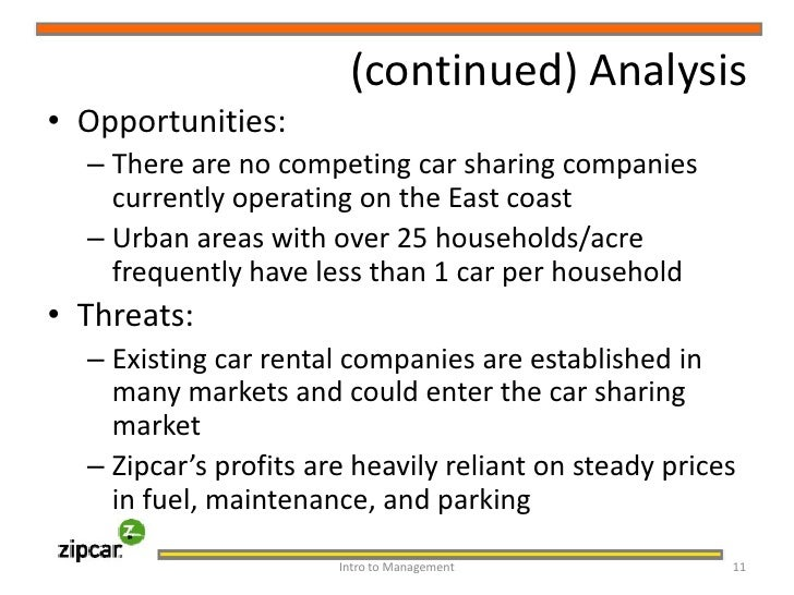 an analysis of the company zipcar Zipcar is the world's largest car sharing company, offering self-service, on-demand cars by the hour or day for personal or business needs the low hourly and daily.