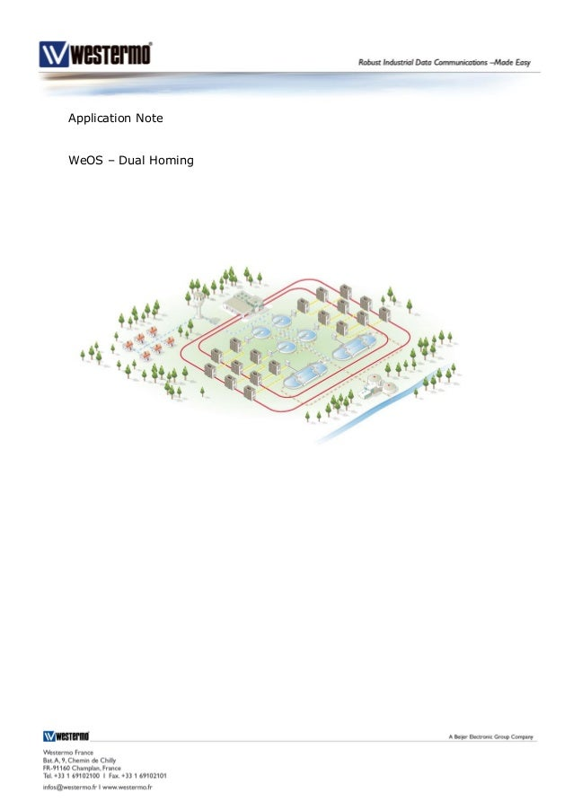 Application Note WeOS – Dual Homing