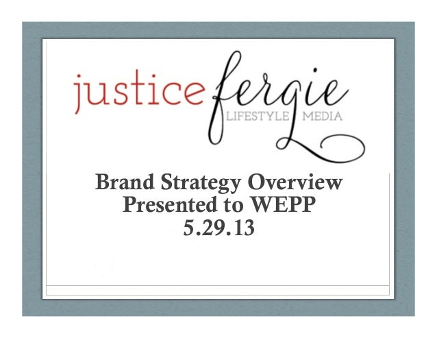 Brand Strategy OverviewPresented to WEPP5.29.13