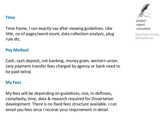 Pay for dissertation recommendations