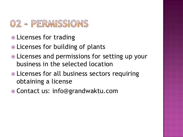 Trade License Malaysia Licenses For Trading