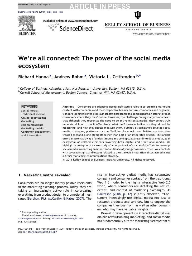 Were all connected the power of the social media ecosystem