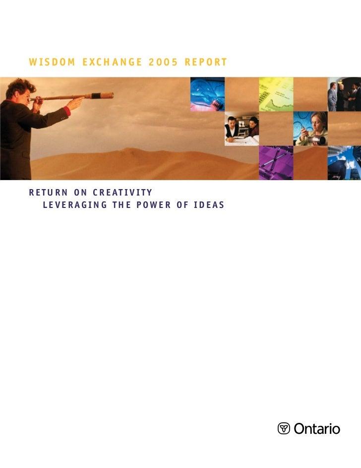 Wisdom Exchange 2005 Report