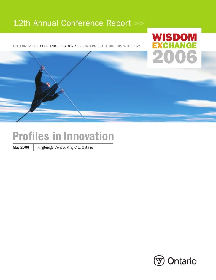 12th Annual Conference Report >>                                                                      WISDOMTHE FORUM FOR ...