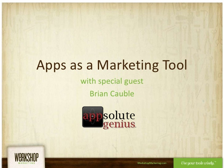 Apps as a Marketing Tool