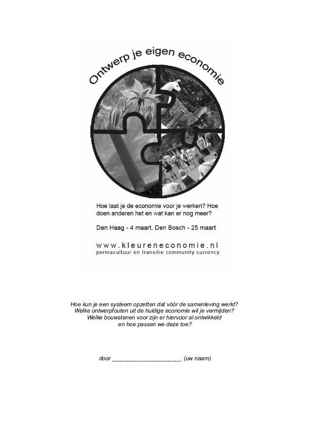 Werkbladen ontwerp-je-eigen-economie