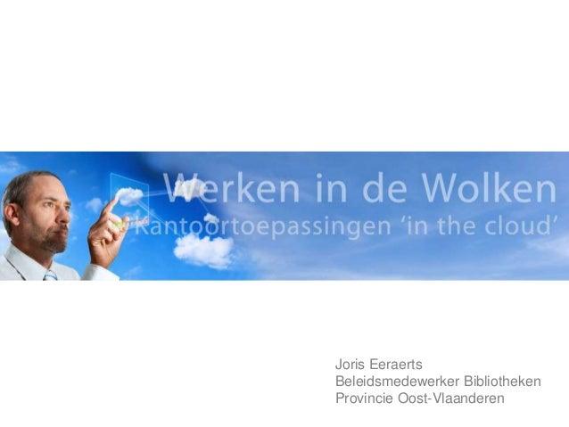 Joris EeraertsBeleidsmedewerker BibliothekenProvincie Oost-Vlaanderen