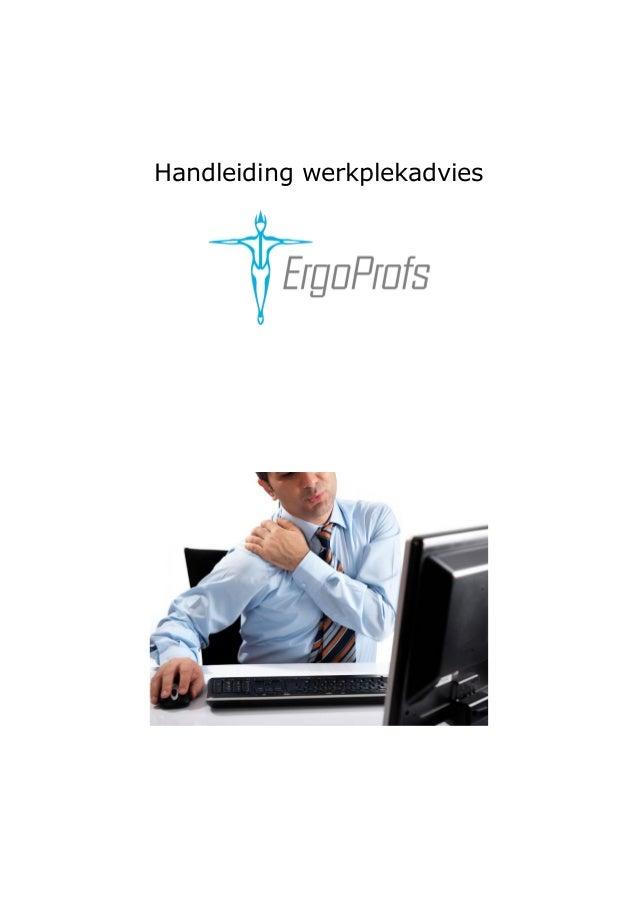 Handleiding werkplekadvies