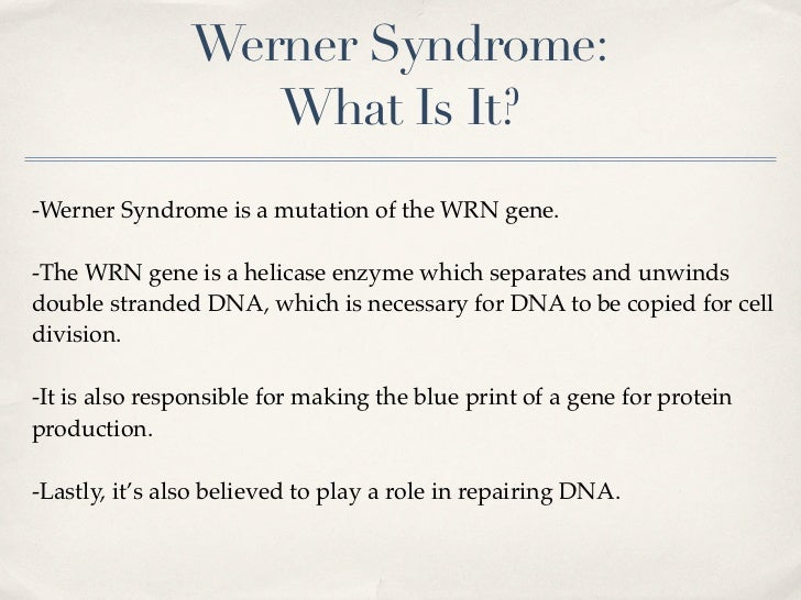werner syndrome #10