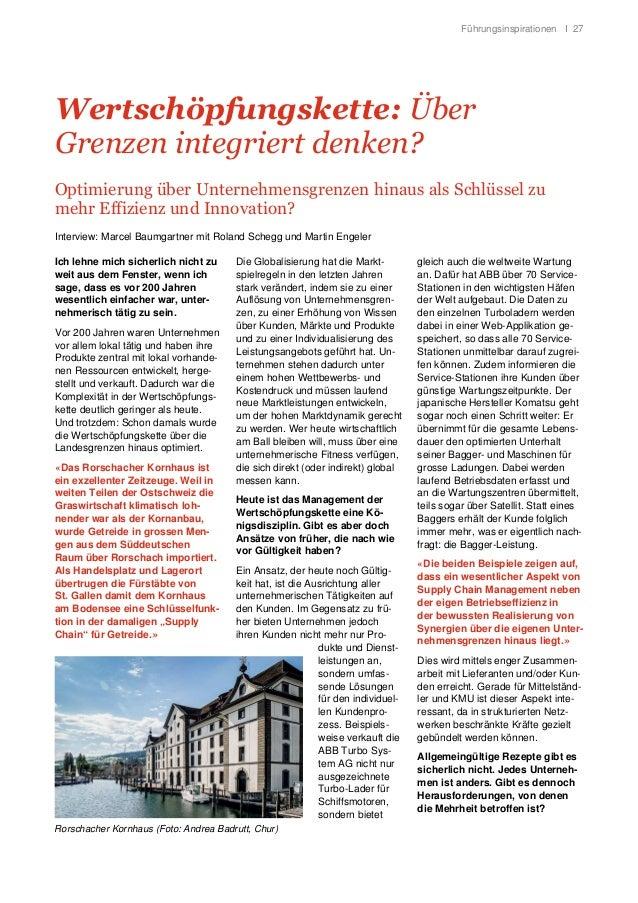 Führungsinspirationen I 27 Wertschöpfungskette: Über Grenzen integriert denken? Optimierung über Unternehmensgrenzen hinau...