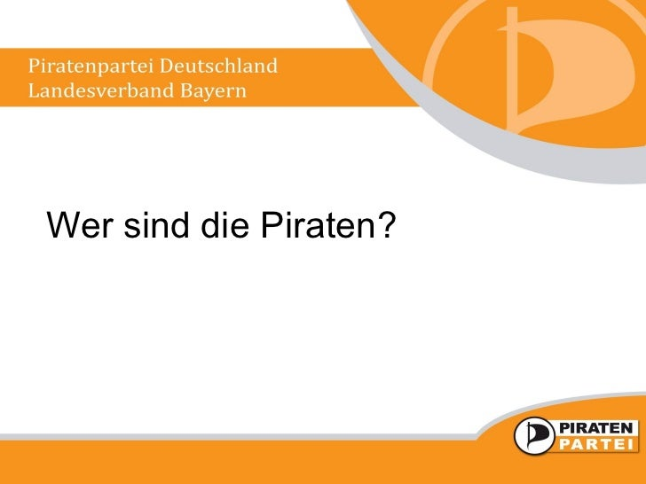 Wer sind die Piraten?