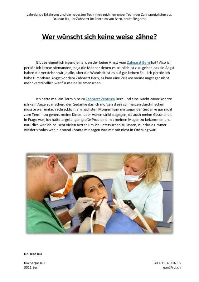Jahrelange Erfahrung und die neuesten Techniken zeichnen unser Team der Zahnspezialisten aus Dr.Jean Rui, Ihr Zahnarzt im ...