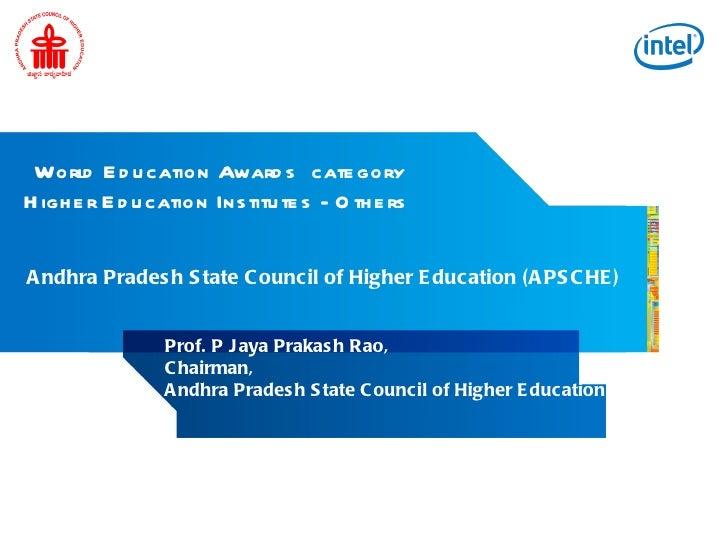 World Education Awards APSCHE _ Intel Collaboration